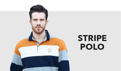 stripe mens's polo