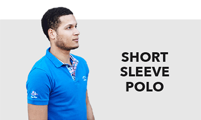 short sleeves men's polo