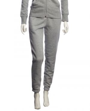 PANTALON jogging MOLLETON Femme 2 poches GRIS - Ethnic Blue