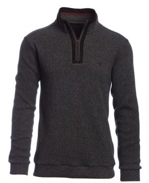 Neck with elbow patchs DARK GREY in HEAVY knit
