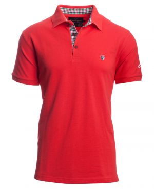 Short sleeve PIQUE polo-shirt, CORAL