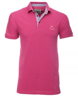 Short sleeve PIQUE polo-shirt, BRIGHT PINK