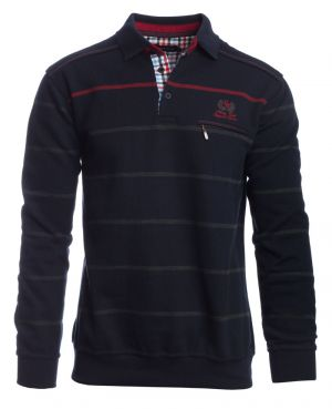 NAVY / GREY / RED stripes