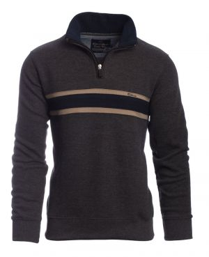 Neck GREY with NAVY stripe