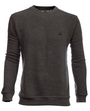Sweat-shirt col rond uni ANTHRACITE