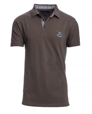Short sleeve PIQUE polo-shirt DARK GREY