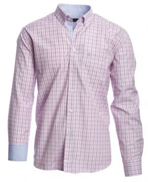 Long sleeve shirt, POCKET, large woven checkered sky