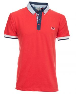 ROUGE CORAIL col chemise