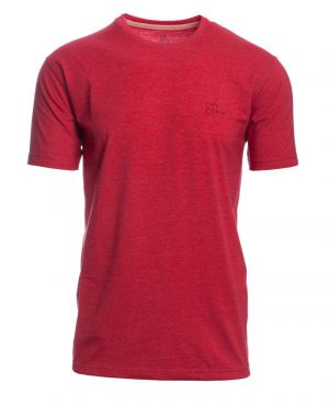 Short-sleeve T-SHIRT, MELANGE RED
