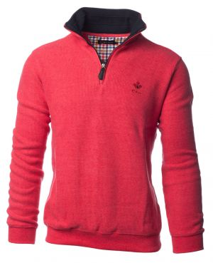 Neck HEATHER LIGHT RED