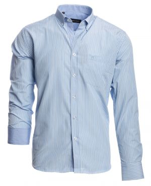 POCKET, sky blue white vertical stripes