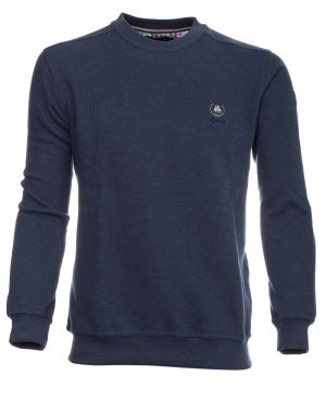 Sweat-shirt col rond uni INDIGO