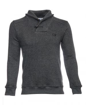 Pull col montant, col châle, ANTHRACITE