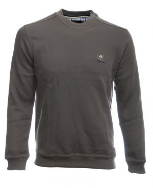 Sweat-shirt col rond uni KAKI