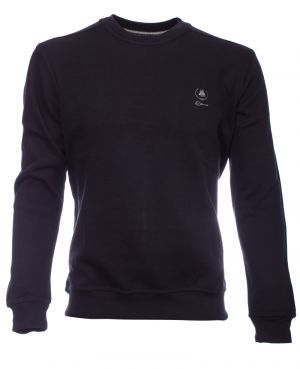 Sweat-shirt col rond uni NOIR