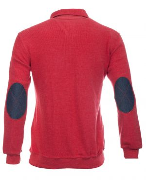 Soft touch light red denim elbows