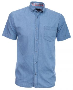 Short sleeve COTTON shirt, DENIM style