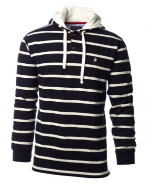Sailor Hoodie NAVY WHITE