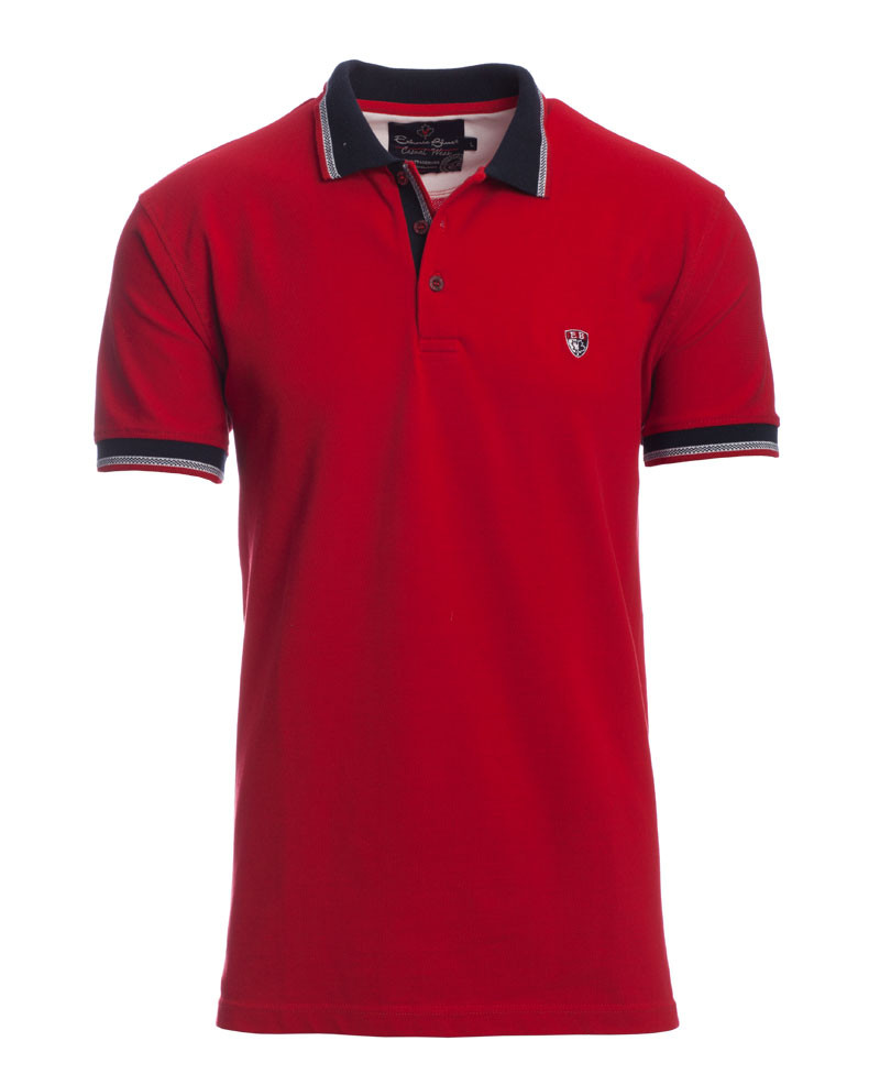 stripes, red / Short Sleeve Polo