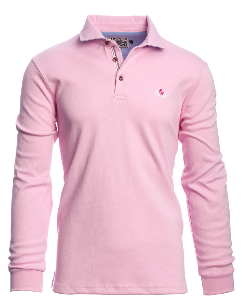 62005e706dc6 Long sleeve light polo-shirt, PINK - Ethnic Blue Long sleeve light polo- shirt, PINK - Ethnic Blue
