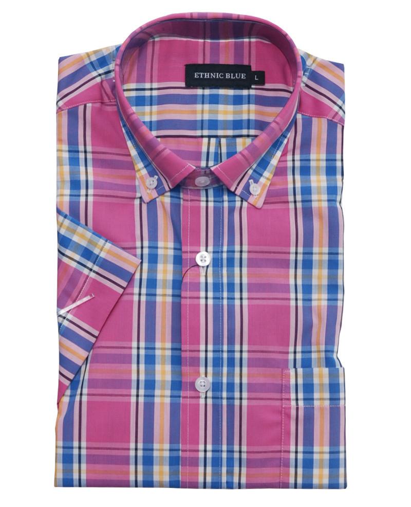 1b9eabaa Short sleeve shirt, pocket, dark pink, blue, navy, orange, white Short  sleeve shirt, pocket, dark pink, blue, navy, orange, white